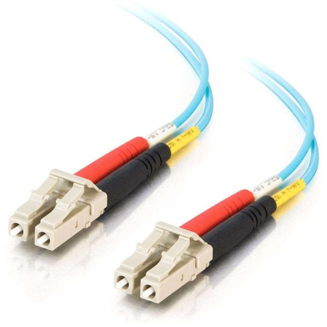 C2G 2m LC-LC 10Gb 50-125 Duplex Multimode OM3 Fiber Cable - Aqua - 6ft