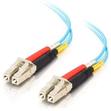 Load image into Gallery viewer, C2G 2m LC-LC 10Gb 50-125 Duplex Multimode OM3 Fiber Cable - Aqua - 6ft