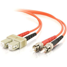 Load image into Gallery viewer, C2G-1m SC-ST 62.5-125 OM1 Duplex Multimode PVC Fiber Optic Cable - Orange