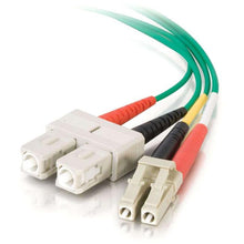 Load image into Gallery viewer, C2G-3m LC-SC 62.5-125 OM1 Duplex Multimode PVC Fiber Optic Cable - Green