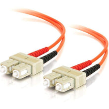 Load image into Gallery viewer, C2G 10m SC-SC 62.5-125 OM1 Duplex Multimode PVC Fiber Optic Cable (USA-Made) - Orange