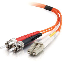 Load image into Gallery viewer, C2G 2m LC-ST 50-125 Duplex Multimode OM2 Fiber Cable - Orange - TAA - 6ft