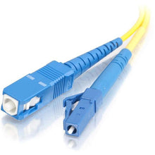 Load image into Gallery viewer, C2G-3m LC-SC 9-125 OS1 Simplex Singlemode PVC Fiber Optic Cable - Yellow