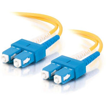 Load image into Gallery viewer, C2G 5m SC-SC 9-125 OS1 Duplex Singlemode PVC Fiber Optic Cable (USA-Made) - Yellow