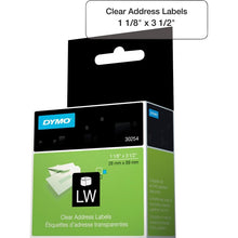 Load image into Gallery viewer, Dymo Clear Address Labels