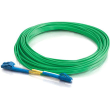 Load image into Gallery viewer, C2G-5m LC-LC 9-125 OS1 Duplex Singlemode PVC Fiber Optic Cable - Green