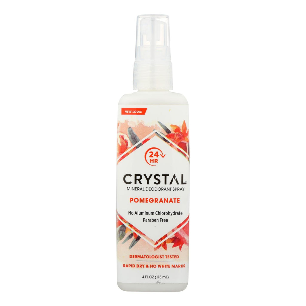 Crystal Essence Mineral Deodorant Body Spray Pomegranate - 4 Fl Oz