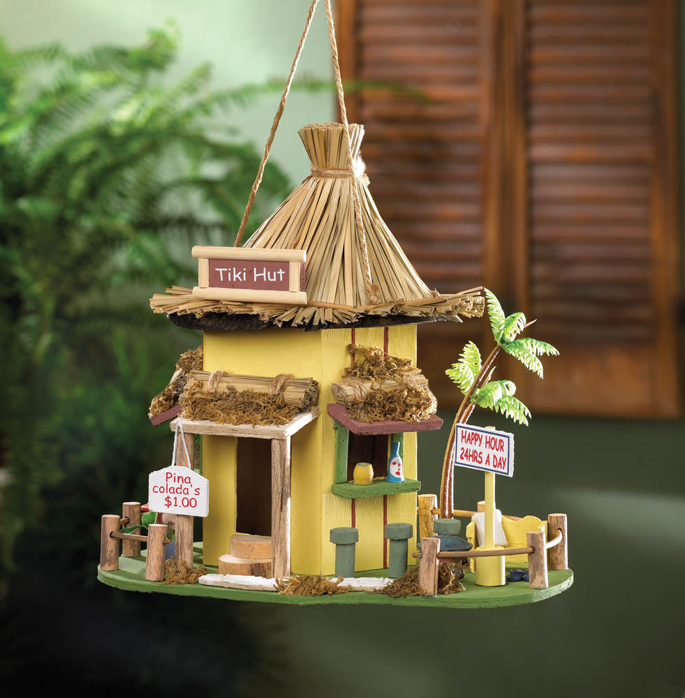 birdhouses and feeders - Tiki Hut birdhouse