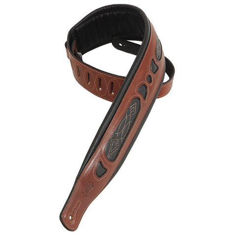 Levy's PM31-WAL Veg-tan Leather Guitar Straps