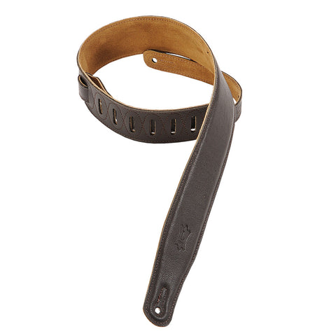 Levy's M26GF-DBR Garment Leather Guitar Straps