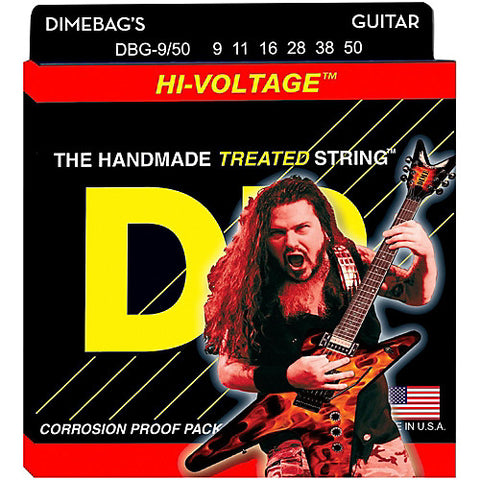 DR Strings DBG-9/50 (Signature) - Dimebag Darrell Nickel Plated Electric: 9, 11, 16, 28, 38, 50