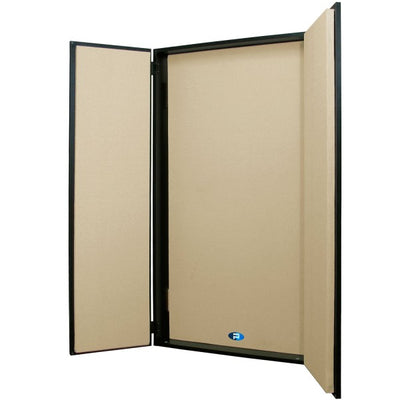 Primacoustic FlexiBooth Wall mount vocal booth, 24'' x 48'' x 6'' (Black/Beige)