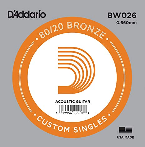 D'Addario BW026 - SINGLE 80/20 BRONZE WND 026