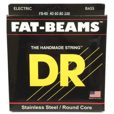 DR Strings FB-40 (Light) - FATBEAM  - Stainless Steel Bass: 40, 60, 80, 100