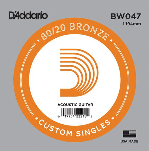 D'Addario BW047 - SINGLE 80/20 BRONZE WND 047
