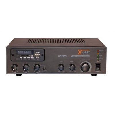 Quest M65t - 65W Mixer Amplifier 4ohm, 8ohm or 25V/70V with Built-in Tuner and USB Media Player