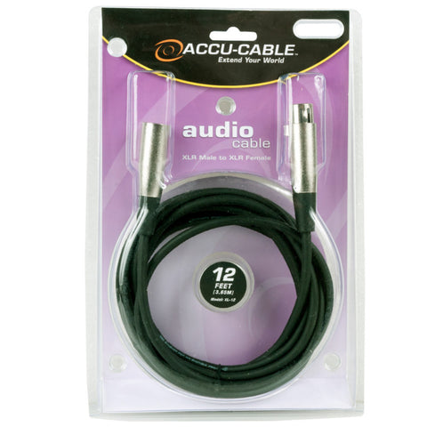 Accu-Cable XLR Microphone Cable 12 Feet