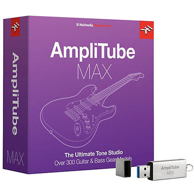 IK Multimedia AmpliTube MAX - Total Bundle of Guitar Amplifier and Cabinet Emulation Software