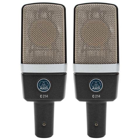 AKG C214 Stereo Set Matched Pair of C214 Microphone