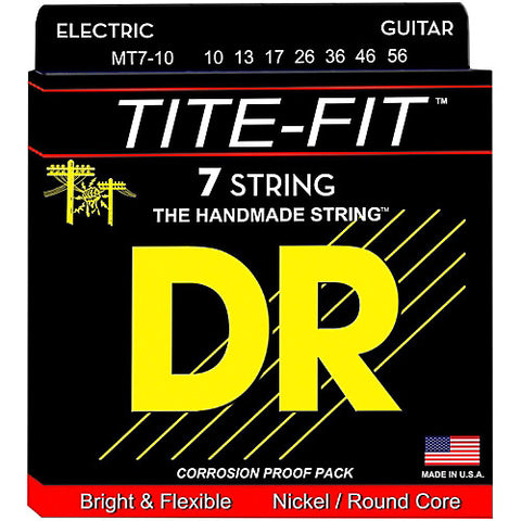 DR Strings MT7-10 (7 String Medium) - Tite-Fit Nickel Plated Electric: 10, 13, 17, 26, 36, 46, 56