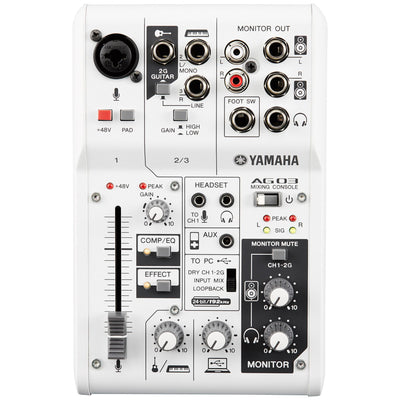 Yamaha AG03 Multipurpose 3-Channel Mixer with USB Audio Interface