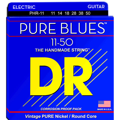 DR Strings PHR-11 (Heavy) - PURE BLUES Pure Nickel Electric: 11, 14, 18, 28, 38, 50