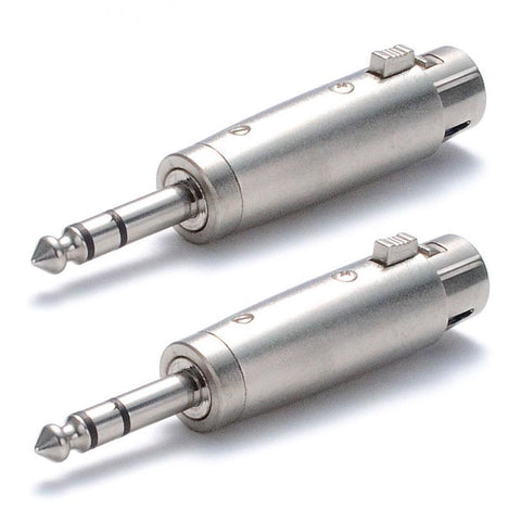 "Accu-Cable Audio Adapter 3-Pin XLR Female to 1/4"" Male"