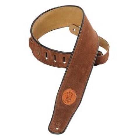 Levy's MSS3-BRN Suede Leather Guitar Straps