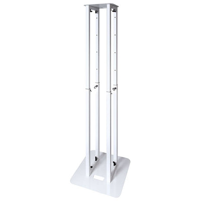 Novopro PS1 XL Height Adjustable Podium Stand 5-Feet - White