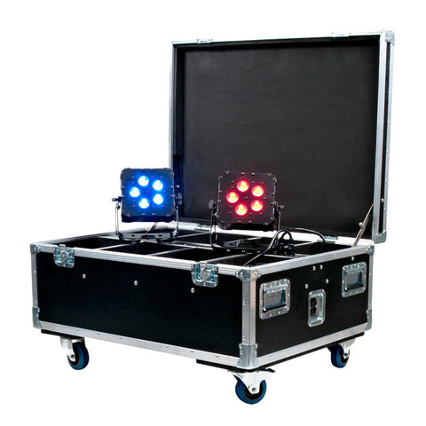 ADJ Wi Flight Case Road Case for 8x ADJ WiFLY LED Lights