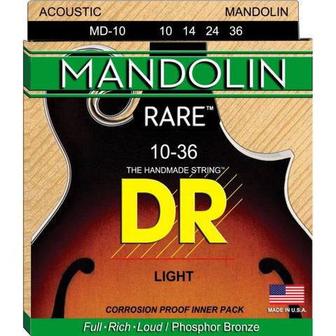 DR Strings MD-10 (Light) - MANDOLIN:   10, 14, 24, 36