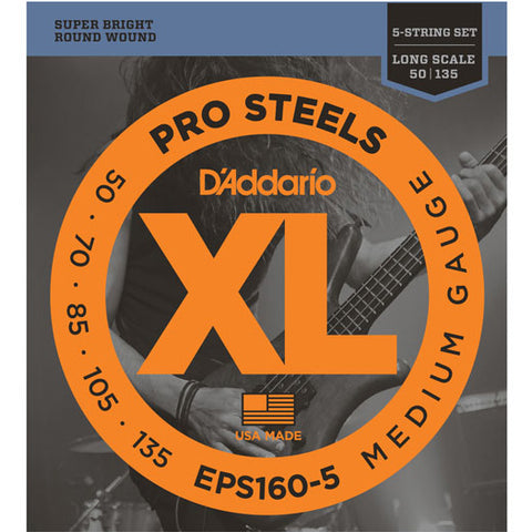 D'Addario EPS160-5 - SET BASS PROST 50-135 LNG 5STR