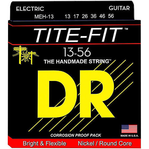 DR Strings MEH-13 (Mega Heavy) - Tite-Fit Nickel Plated Electric: 13, 17, 26, 36, 46, 56