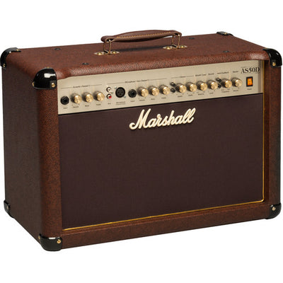 Marshall AS50D - 50W 2x8'' 2-Channel Acoustic Guitar Combo Amplifier with FX (Brown)