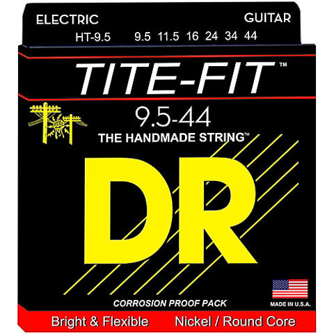 DR Strings HT-9.5 (Half - Tite) - Tite-Fit Nickel Plated Electric: 9.5, 11.5, 16, 24, 34, 44