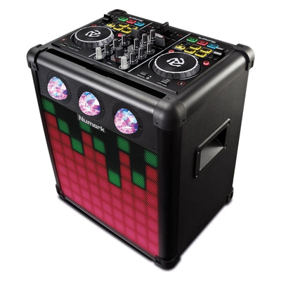 Numark Party Mix Pro - All-In-One DJ System w/ Controller, Speaker and Lights