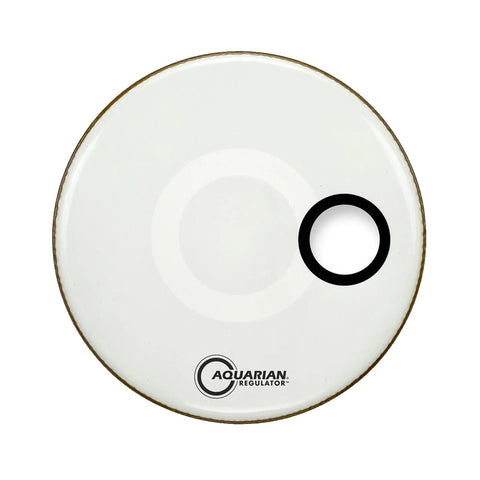 Aquarian RSM24W - 24'' REGULATOR SM PORT/RING WHT24''DRUMHEAD