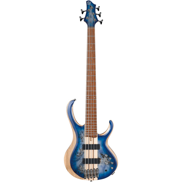 Ibanez BTB845-CBL - BTB 5-String Poplar Burl Bass - Cerulean Blue Burst Low Gloss