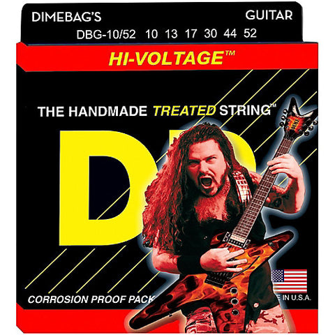 DR Strings DBG-10/52 (Big - Heavy) - Dimebag Darrell Nickel Plated Electric: 10, 13, 17, 30, 44, 52