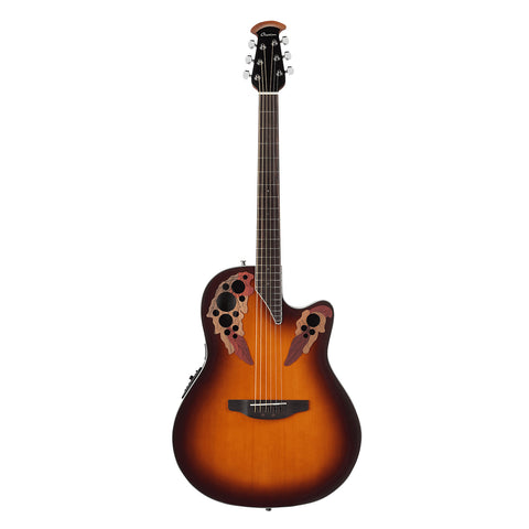 Ovation Elite Celebrity Super Shallow Acoustic - Transparent Sunburst
