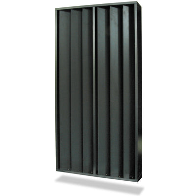 Primacoustic FlexiFuser Variable slat diffuser & absorber, 24'' x 48'' x 8'' (Black/Grey)