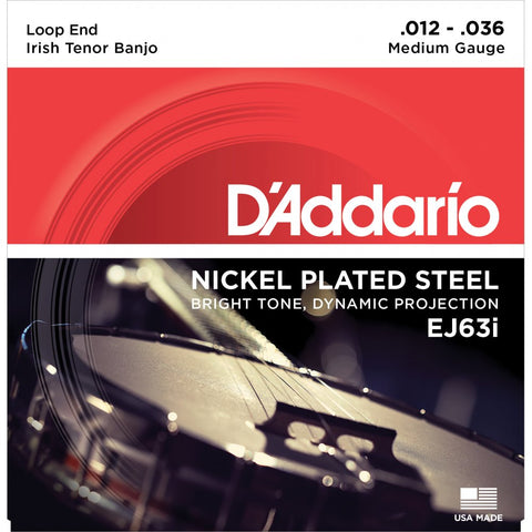 D'Addario EJ63i - Set Banjo-Irish Nickel Strings