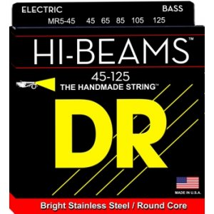 DR Strings MR5-45 (Medium 5's) - HI-BEAM  - Stainless Steel: 45, 65, 85, 105, 125