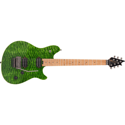EVH Wolfgang Standard QM Baked Maple Fingerboard Electric Guitar - Transparent Green