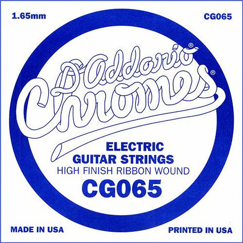 D'Addario CG065 - SINGLE CHROMES FLAT WND 065