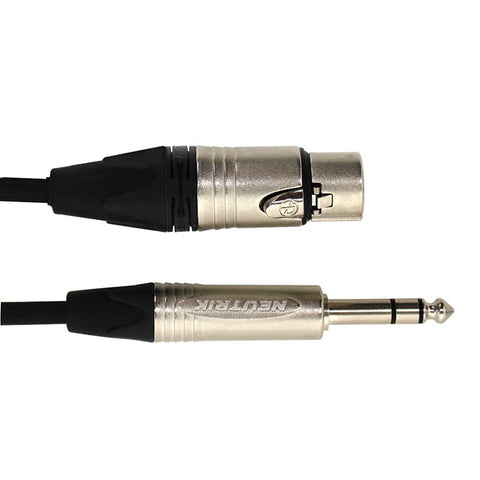 Digiflex NXFS-10 - 10 Foot NK2/6 Adapter Cable -XLRF to Stereo Phone Plug
