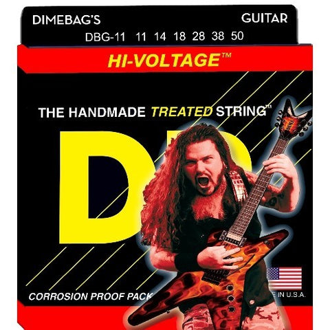 DR Strings DBG-11 (Heavy) - Dimebag Darrell Nickel Plated Electric: 11, 14, 18, 28, 38, 50