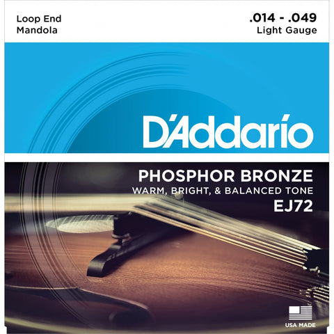 D'Addario EJ72 - Set Mandola Phos Brz Light