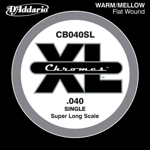 D'Addario CB040SL - SINGLE  BASS CHROMES 040 SL