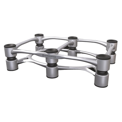 IsoAcoustics Aperta 300 Aluminum Acoustic Isolation Speaker Stand (Each, Silver)